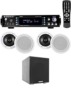 Rockville RPA60BT Home Theater Bluetooth Receiver+(4) 8
