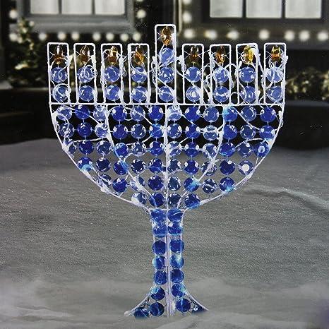 Northlight Led Lighted Menorah Hanukkah Yard Art Decoration With Cool White Lights 24