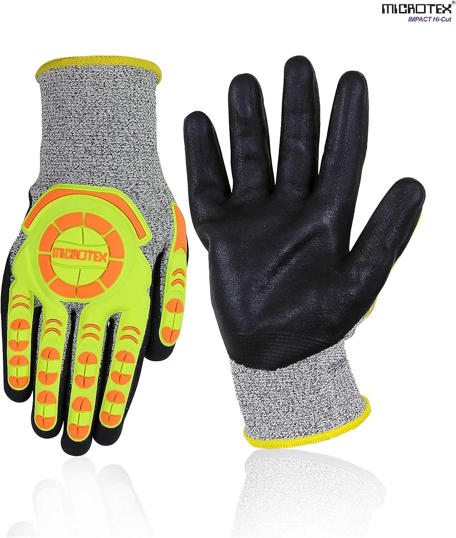 Anti Impact Cut Resistant 5 Glove One Pair Pack Grey//Black sUw Small