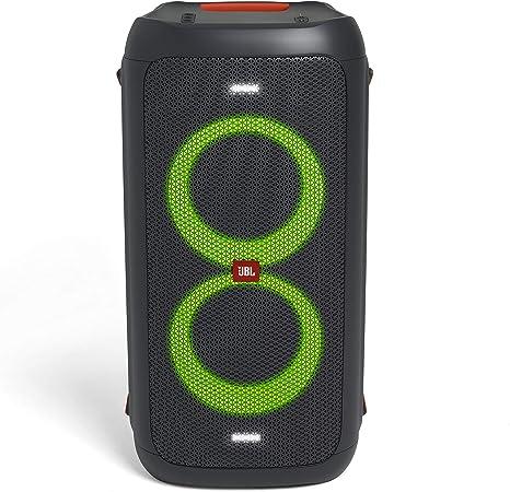 Jbl Partybox 100 In Schwarz Tragbarer Bluetooth Party Lautsprecher Mit Lichteffekten Spritzwassergeschützte Mobile Musikbox Mit Netzteil Audio Hifi