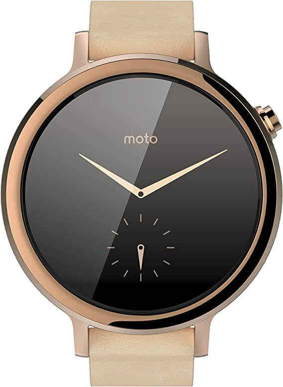 Motorola Moto 360 (2nd Gen.) - Womens 42mm, Rose Gold with Blush Leather
