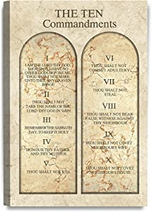 DECORARTS - The Ten Commandments Wall Decor (Catholic Church Version). Giclee Print Wall Art for Home Decor and Wall Decor.18x12 x1.5