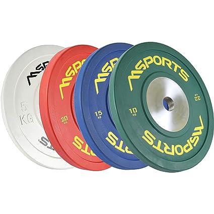 Olympia - Juego de 2 discos de pesas profesionales, diámetro 51 mm ...