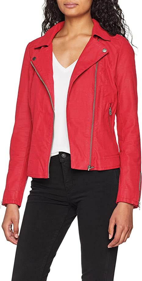 Only Onlenya Faux Leather Biker CC Otw Giacca in Ecopelle Donna
