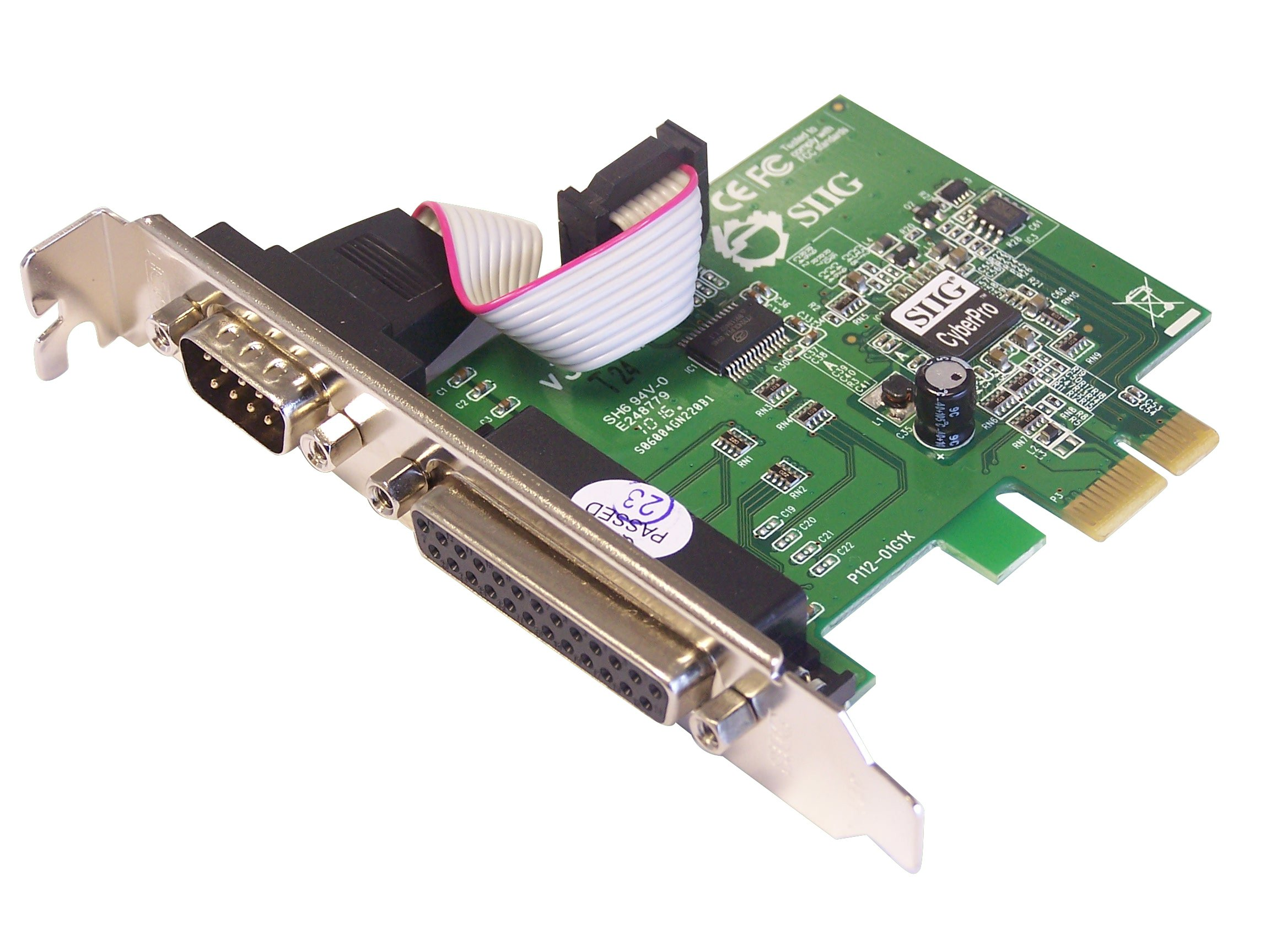 SIIG Cyber 1S1P PCIe Controller (JJ-E00011-S3) by SIIG