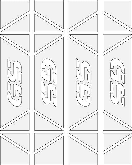 Blanco Pegatinas Laterales Reflectantes Laterales Alta CALIAD para Maletas BMW Kit 4 Unidades 5 Colores Disponibles