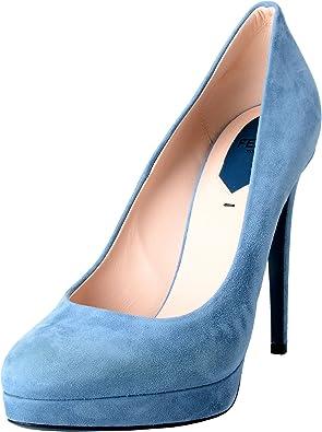 Fendi Women's Suede Blue Platform High