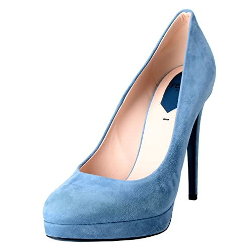 5c4d829924 Amazon.com   Fendi Women's Suede Blue Platform High Heels Pumps ...
