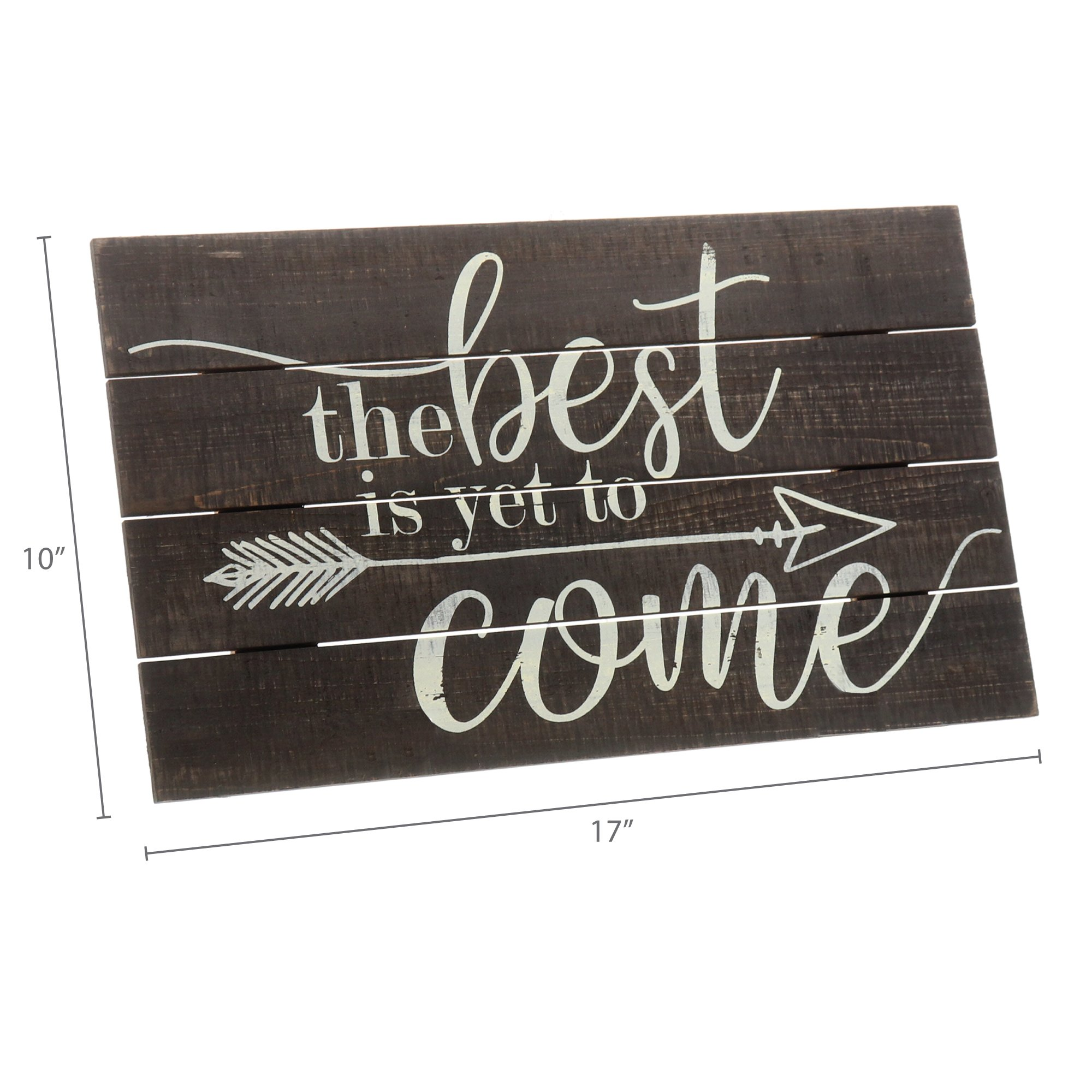 """Barnyard Designs The Best Is Yet To Come Rustic Wood Hanging Sign Decorative Wall Decor 17"""" x 10"""" by Barnyard Designs (Image #6)"""