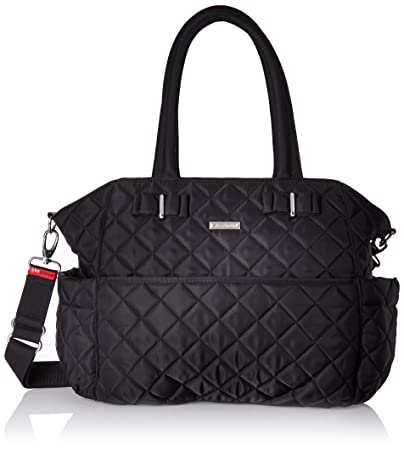 Amazon.com : Storksak Bobby Quilted Shoulder Bag Diaper Bag, Black ... : quilted diaper bags - Adamdwight.com