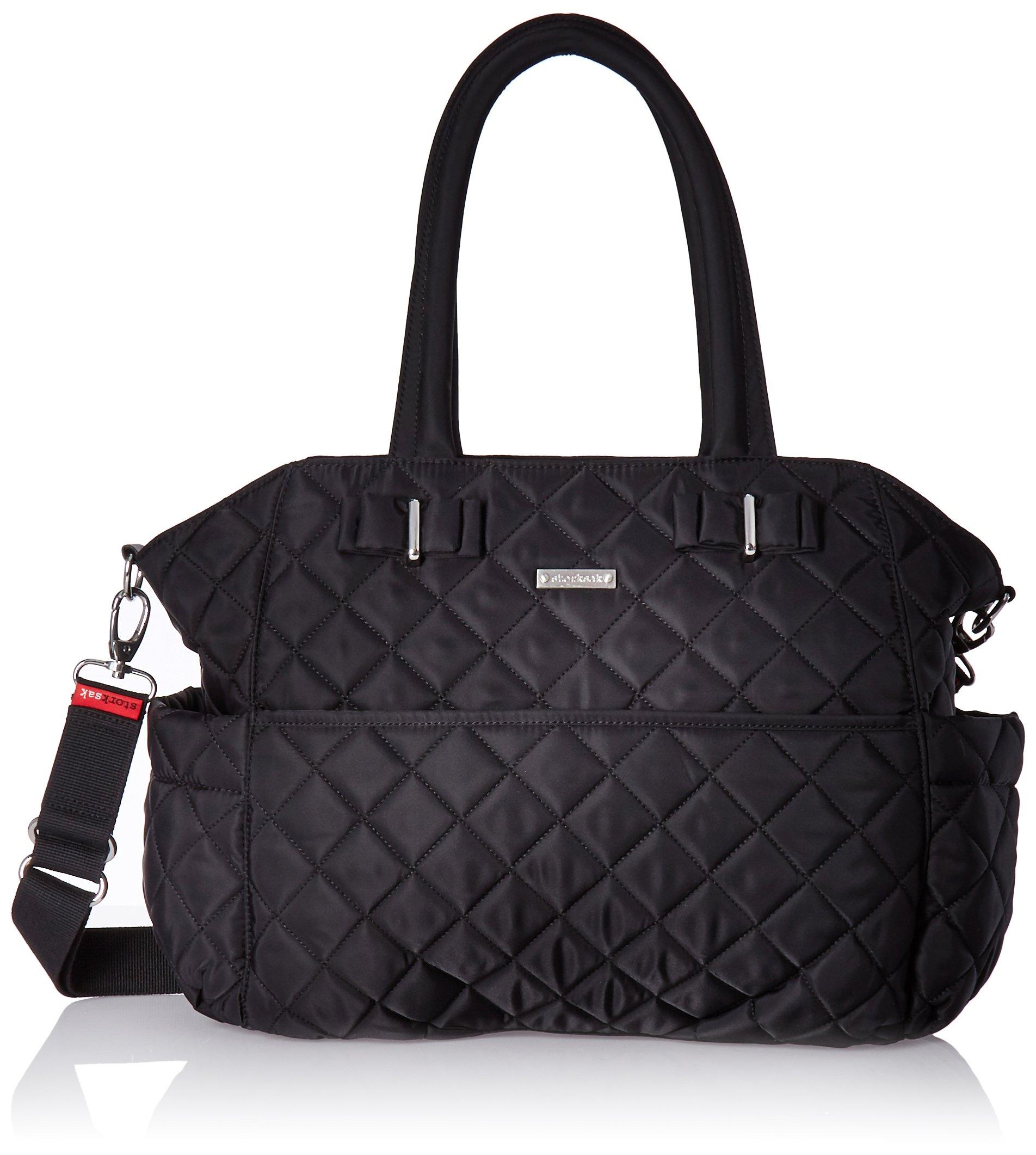 Storksak Bobby Quilted Shoulder Bag Diaper Bag, Black