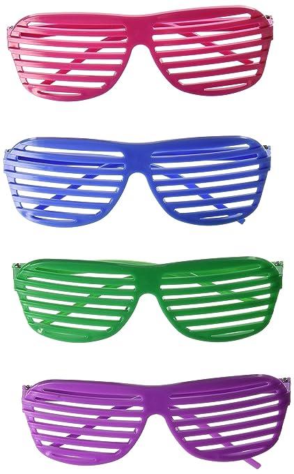 6f33a4fa815 Amazon.com  Rhode Island Novelty 24 Pairs of 80 s Sunglasses Party ...