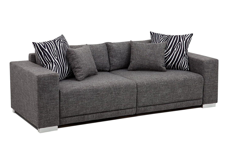hikenn big sofa couch london xl 237x103cm strukturstoff. Black Bedroom Furniture Sets. Home Design Ideas