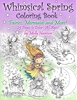 whimsical spring coloring book fairies mermaids and more all ages sweet