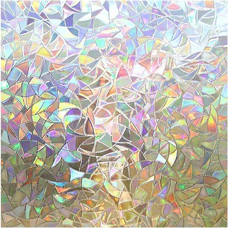 rabbitgoo 3D Vinilos para Cristales Ventanas, Translúcido Lamina Privacidad Decorativos Sin Pegamento Vinilo Adhesivo Aplicables Electristáticamente ...