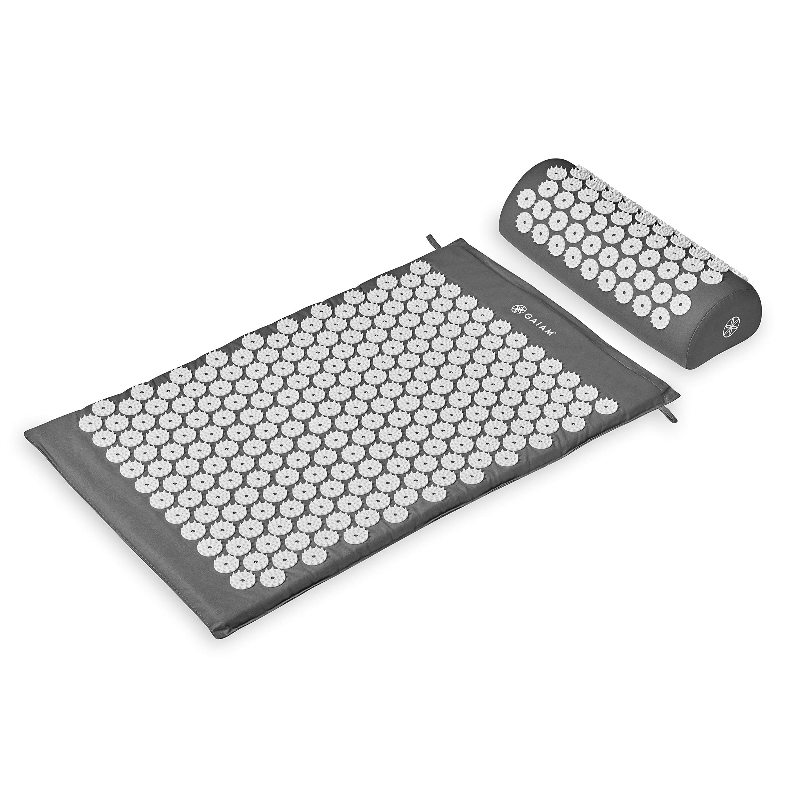 Gaiam Acupressure Mat and Pillow Set - Acupuncture Style Massage Mat & Pillow | Relief for Sciatic Nerve, Muscle Tension, Fibromyalgia, Neck, Shoulder & Back Pain, Migraine & Headaches and Insomnia by Gaiam