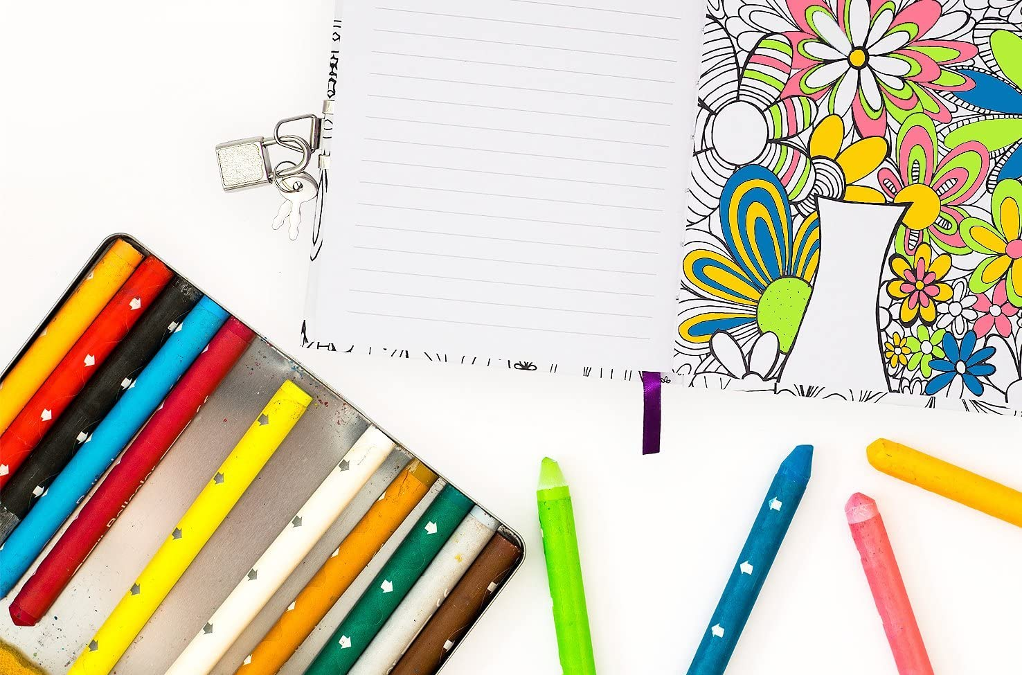 Blue Lady Simple Dream Lock Journal