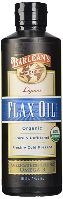 High Lignan Flax Oil, 16-Ounce Bottle by Barlean's Organic Oils