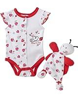 Vitamins Baby-girls Newborn Little Lady Blankie Buddy 2 Piece Creeper Set
