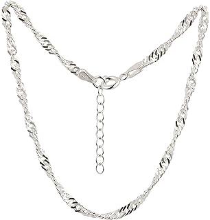 Kim johanson Mujer Soporte de cadena Silver Dream de plata de ley 925/con bolas m/óviles /& un extra cierre mosquet/ón fuerte Incluye regalo