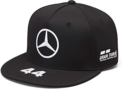 One Size Mercedes AMG Petronas Mens Mercedes Amg Team Flatbrim Cap Black Baseball