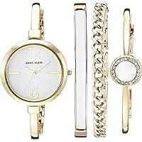 Anne Klein 女士 AK/3290WTST 金色手镯手表和手镯套装