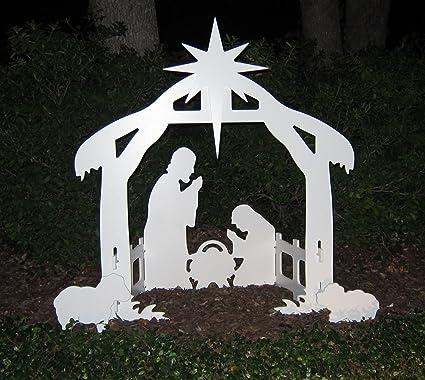 Amazon teak isle christmas outdoor nativity set yard nativity teak isle christmas outdoor nativity set yard nativity scene aloadofball Gallery