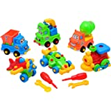 Summerease STEM Toys for 4 Year olds and up - 6 Piece Take-Apart Play Set – Educational Toys for Boy Girl Ages 3 & Up