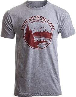 206af93ebc7 Amazon.com  Mens Camp Crystal Lake T Shirt Funny Shirts Camping ...