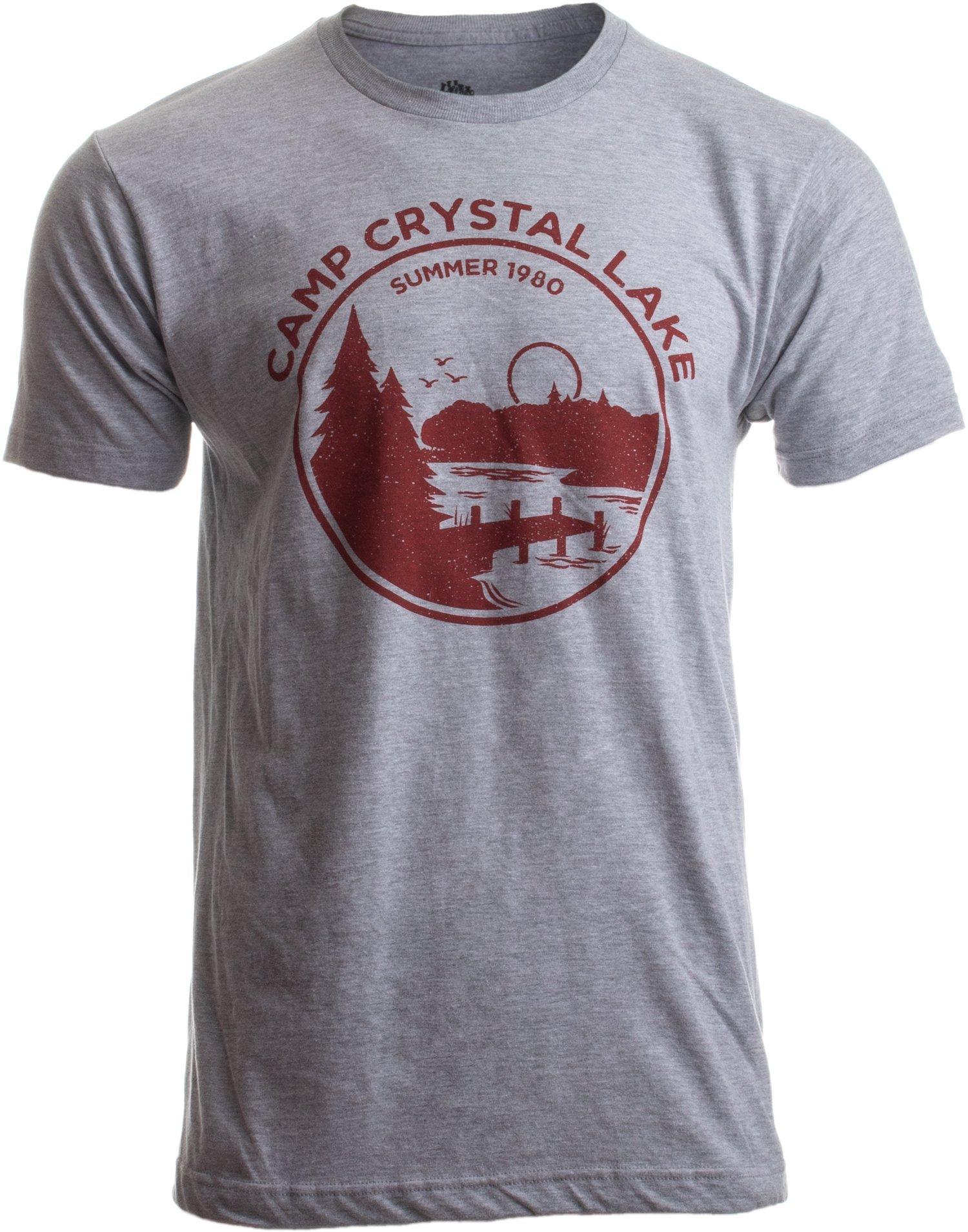1980 Camp Crystal Lake Counselor | Funny 80s Horror Movie Fan Jason Joke T-Shirt-(Adult,M)