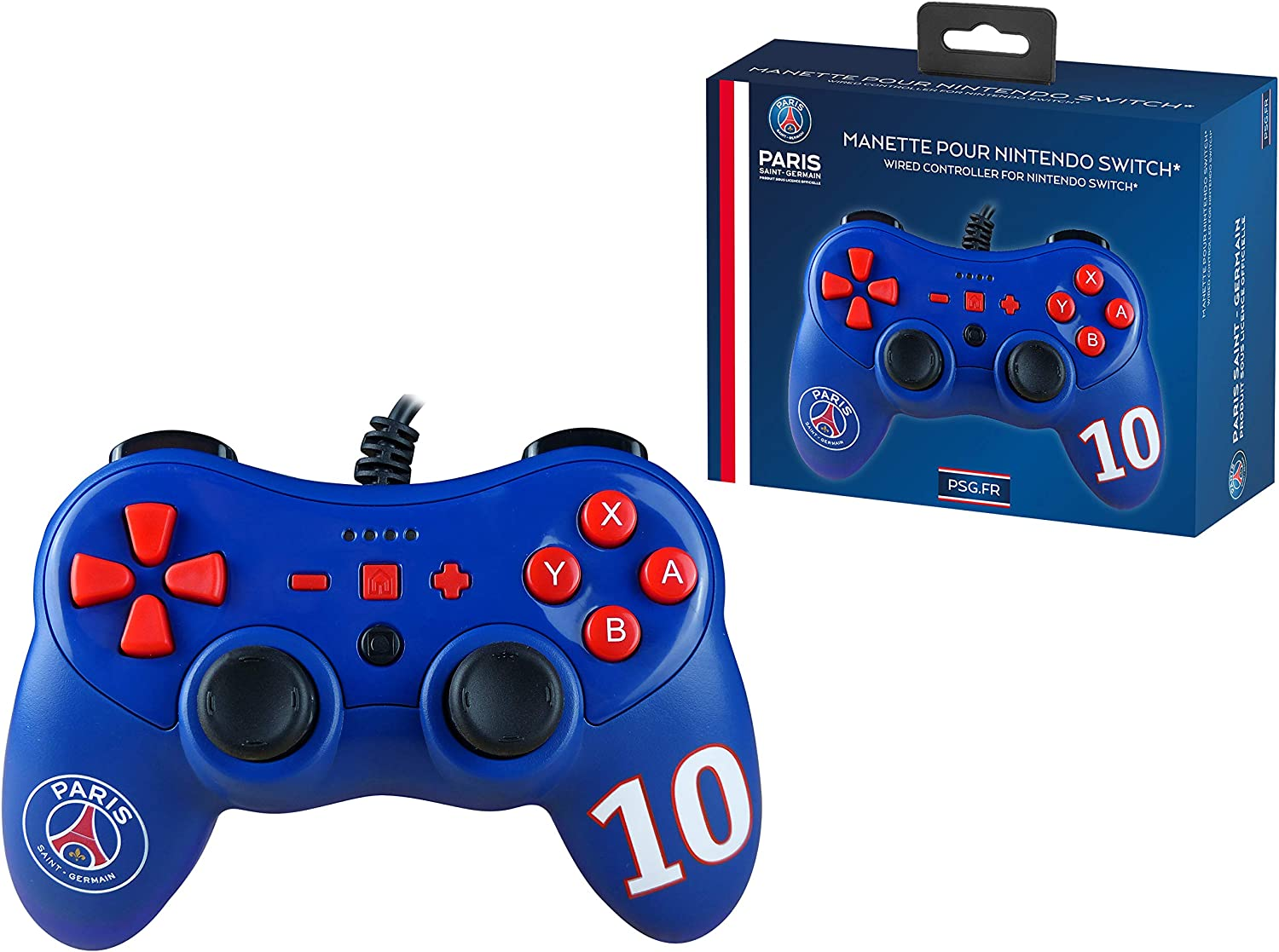 Mando controller para Nintendo Switch, con cable, Paris Saint Germain: Amazon.es: Videojuegos