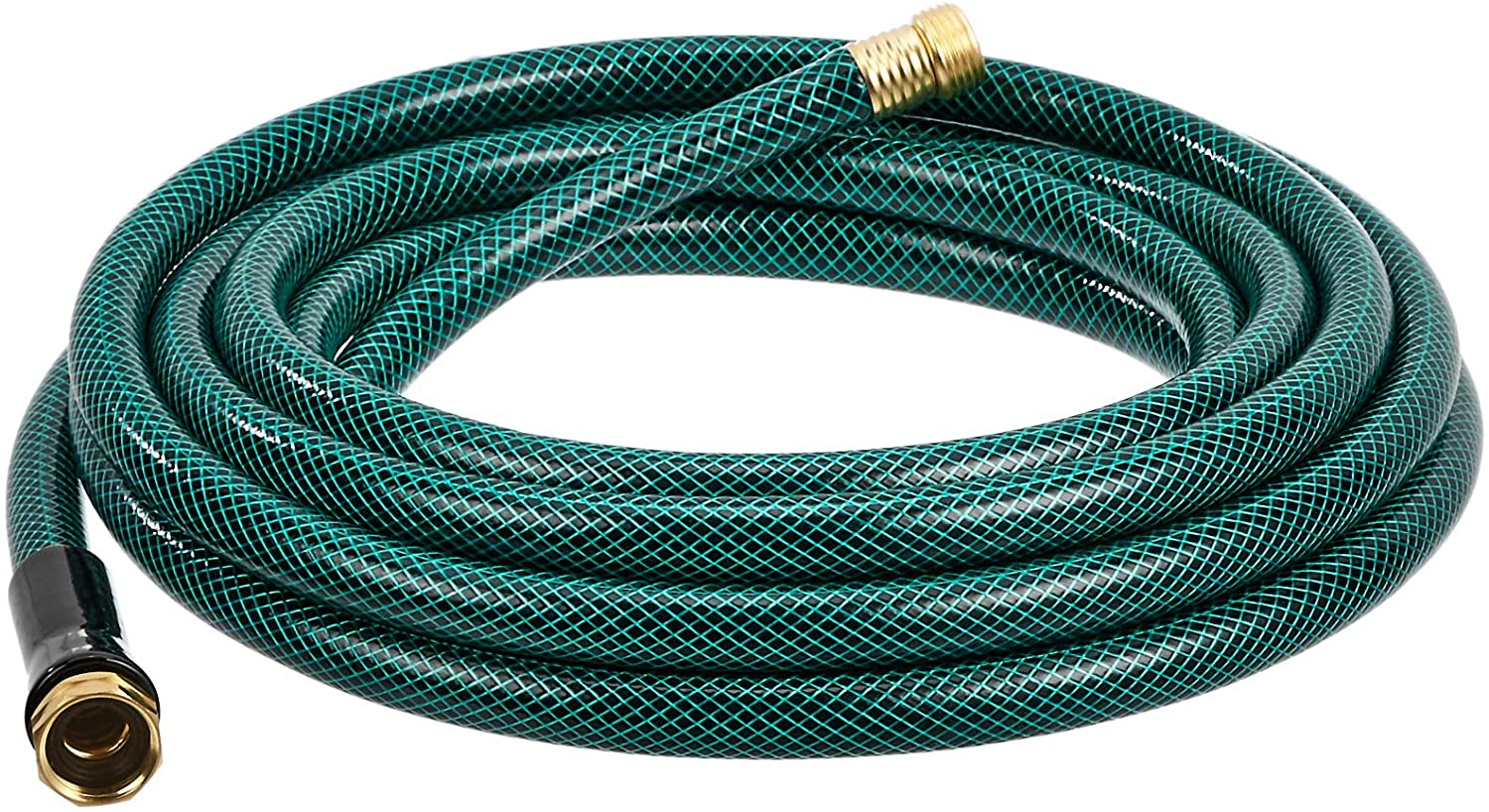 Amazon Basics Garden Tool Collection - Water hose with Brass Coupling 25ft, 5/8'', 300psi