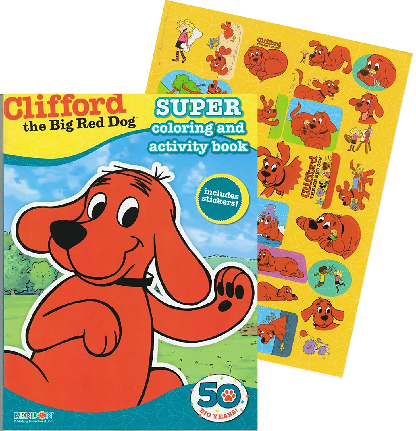 amazon com clifford the big red dog giant coloring book with
