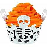 Wilton 415-0510 Halloween Skeleton Cupcake Wraps, 18 Count