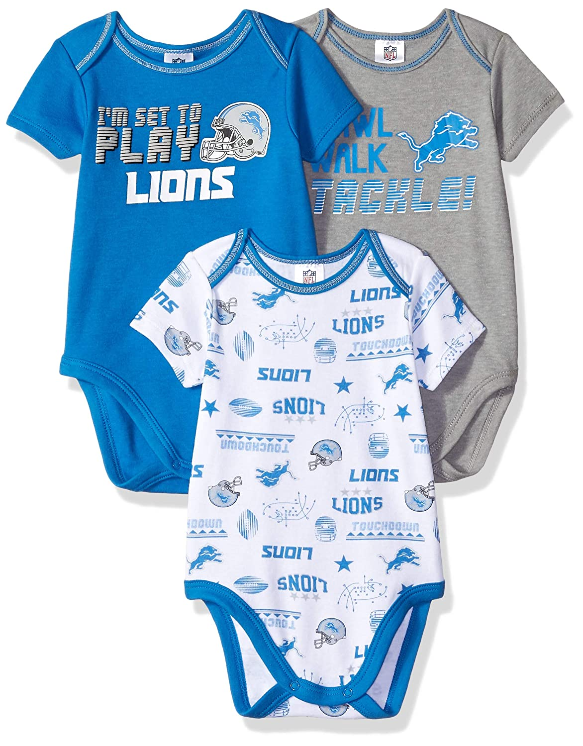 NFL Baby-Boy 3 Pack Short Sleeve Variety Bodysuit
