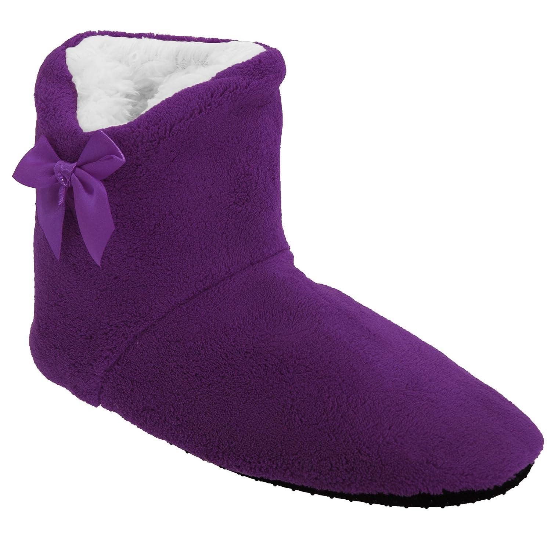 Femme 36-41 Violet Universal Textiles Chaussons Bottes