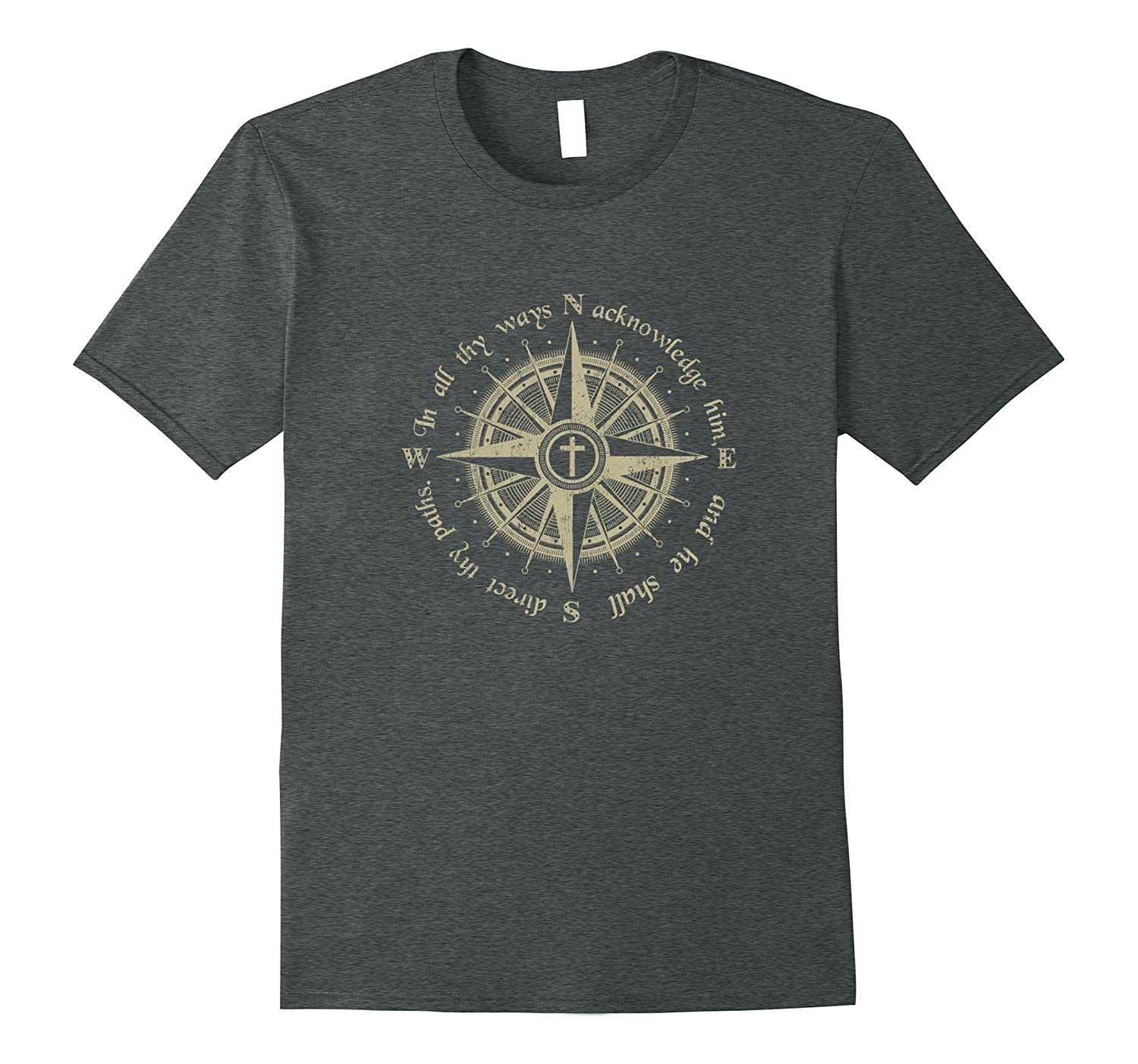 God Will Direct Your Path Compass Religion Christian T-Shirt-Art