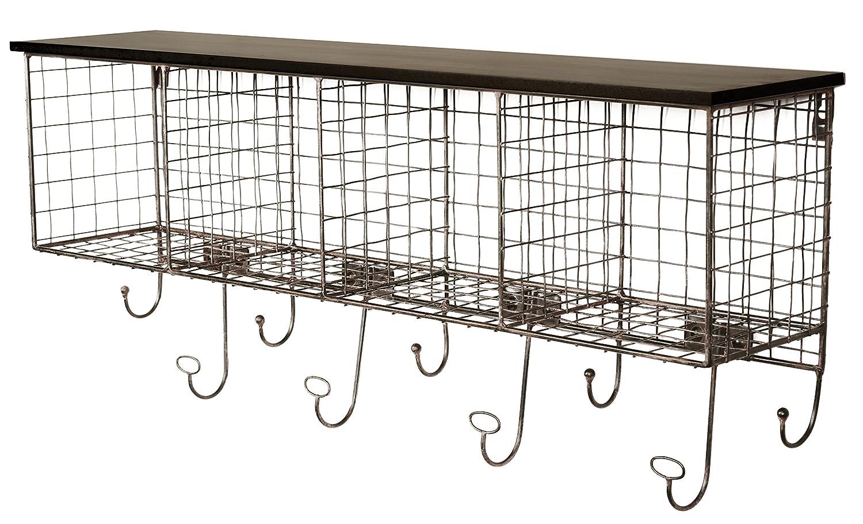Relatively Amazon.com: Linon 4-Cubby Wall Shelf, Black: Home & Kitchen SB37