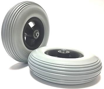 Silla Neumáticos pannensicher 200 x 50 (8 x 2), 1 par (2 unidades), Gris, Rille Perfil, ...