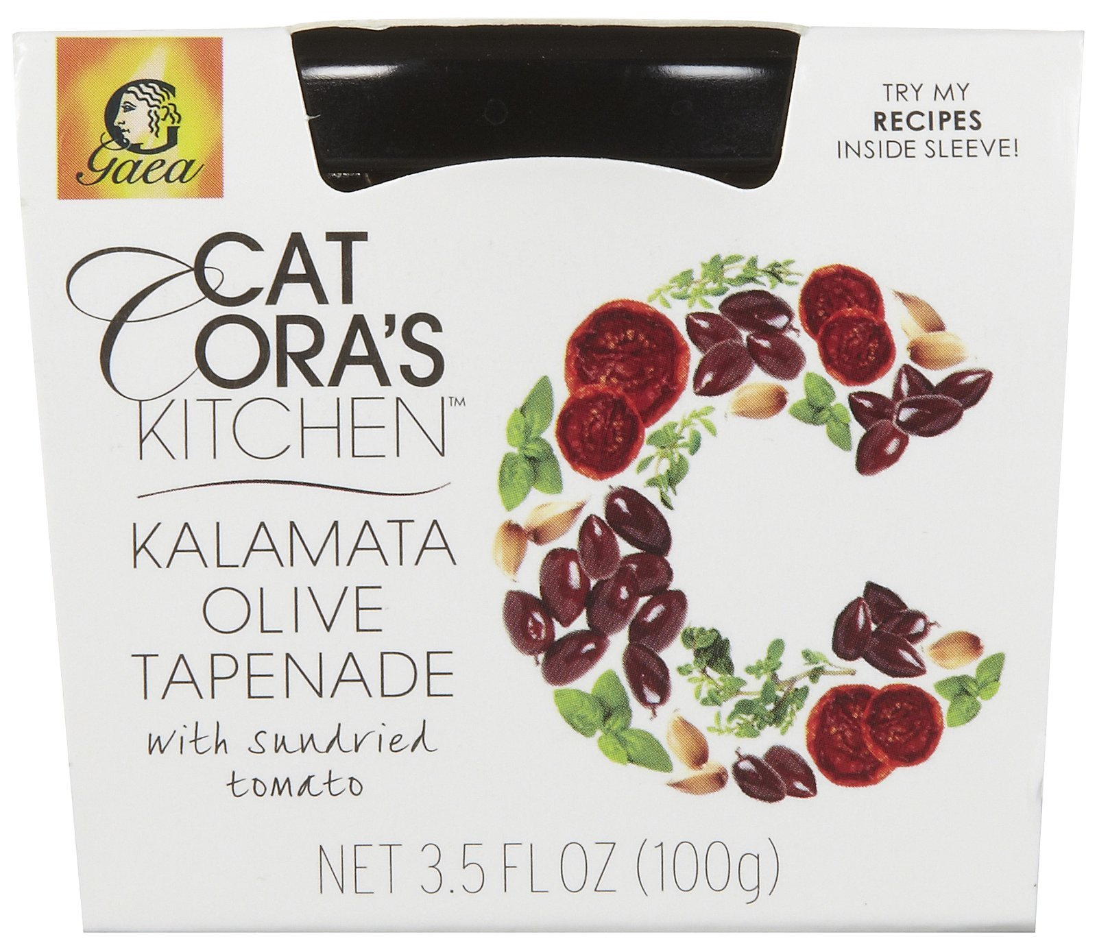 Gaea Cat Cora's Kitchen Kalamata Olive Tapenade, 3.5 oz Jars, 6 pk by Gaea