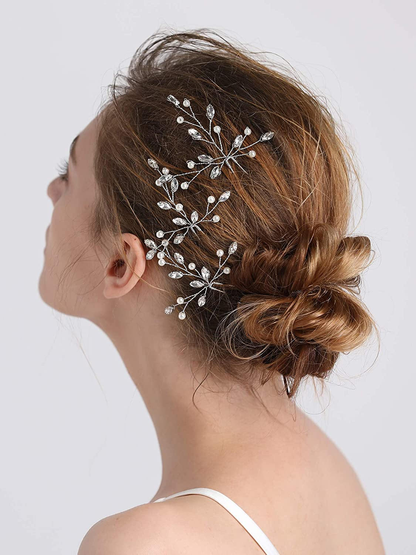 Buy Fxmimior Bridal Hair Accessories Pearl Crystal Hair Pins