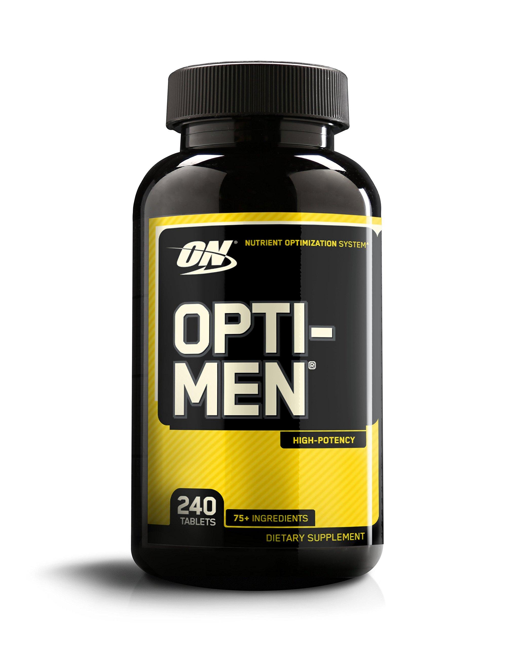 Optimum Nutrition Opti-Men, Mens Daily Multivitamin Supplement with Vitamins C, D, E, B12, 240 Count