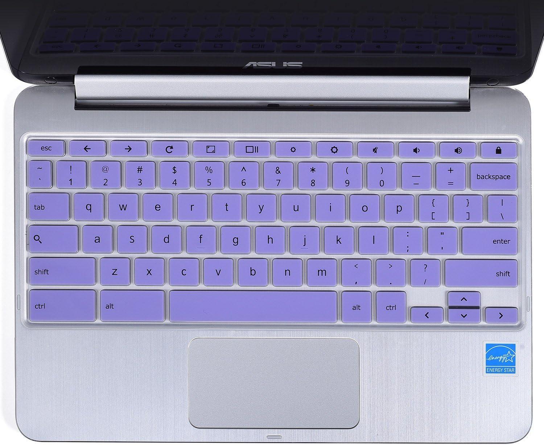 "for ASUS Chromebook Flip 10.1"" Keyboard Cover, CaseBuy Ultra Thin Keyboard Skin for 2018 Newest Premium Asus Flip 10.1"" / ASUS Chromebook Flip 10.1 inch C100PA-DB02 / C101PA-DB02, Purple"