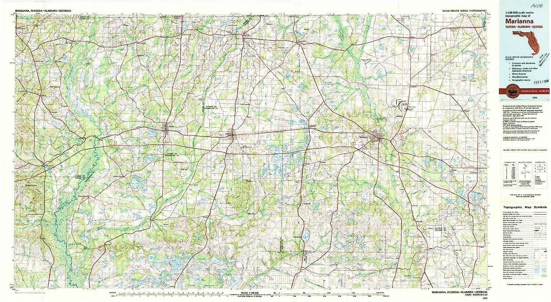 Marianna Florida Map.Amazon Com Florida Maps 1979 Marianna Fl Usgs Historical