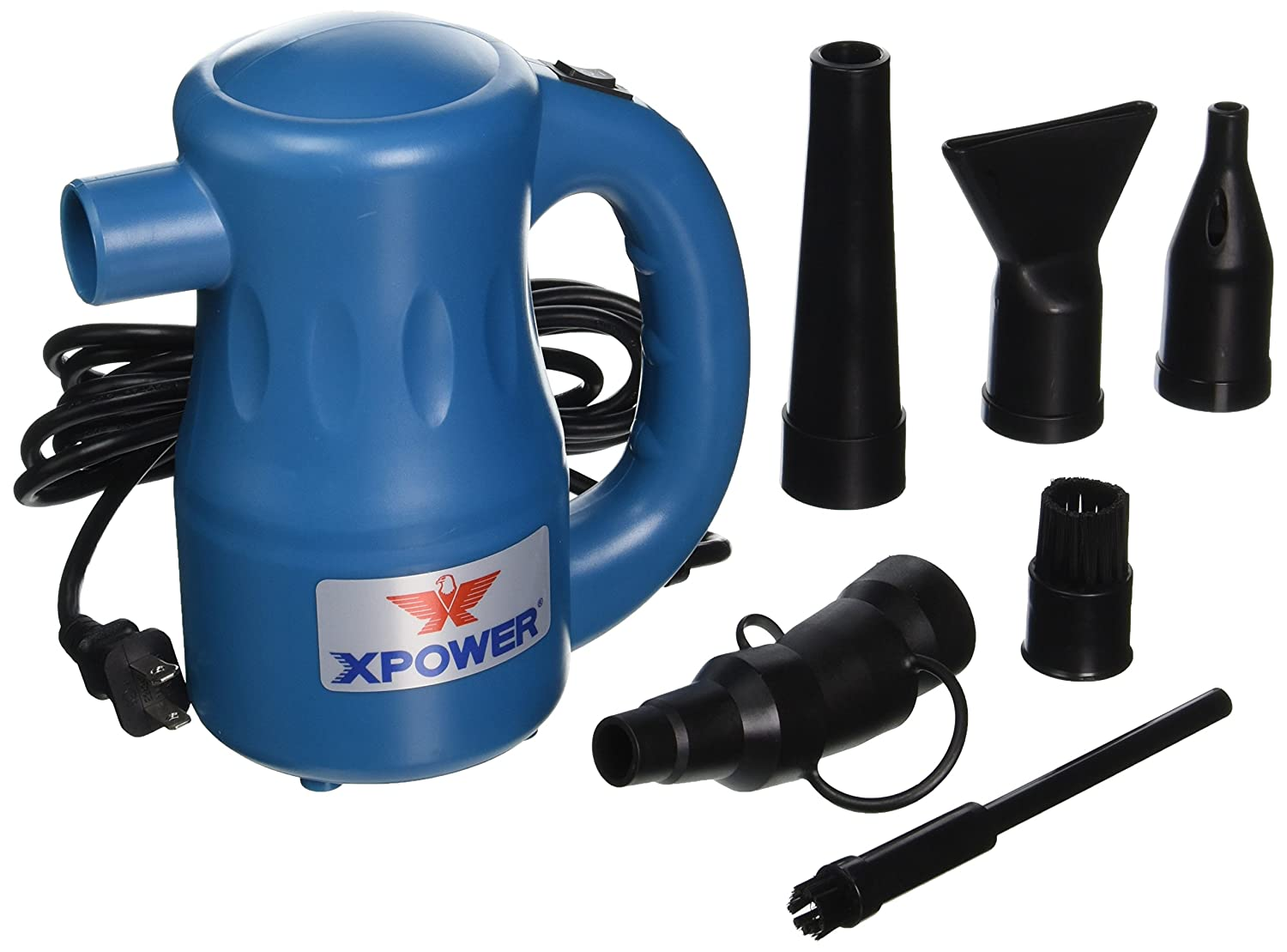 XPOWER A-2 Airrow Pro Multi-Use Electric Computer Duster Dryer Air Pump Blower - Blue (A-2-FBA) XPOWER Manufacture Inc.