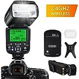 Flash Speedlite per Canon, ESDDI E-TTL Kit Flash professionale con trigger flash wireless, 1/8000 HSS Wireless Flash Speedlite GN58 2.4G Master slave wireless radio per Canon DSLR