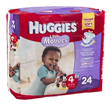 Huggies Diapers Little Movers Disney Size 4 (22-37 lb) 24 CT (