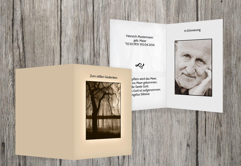 el mas de moda Beige sterbe imágenes imágenes imágenes árbol, negro, 50 Karten  Envío rápido y el mejor servicio