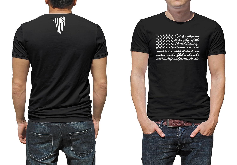 f2885b5c8f057 Gilden VinylKC Pledge of Allegiance American Flag T-Shirt