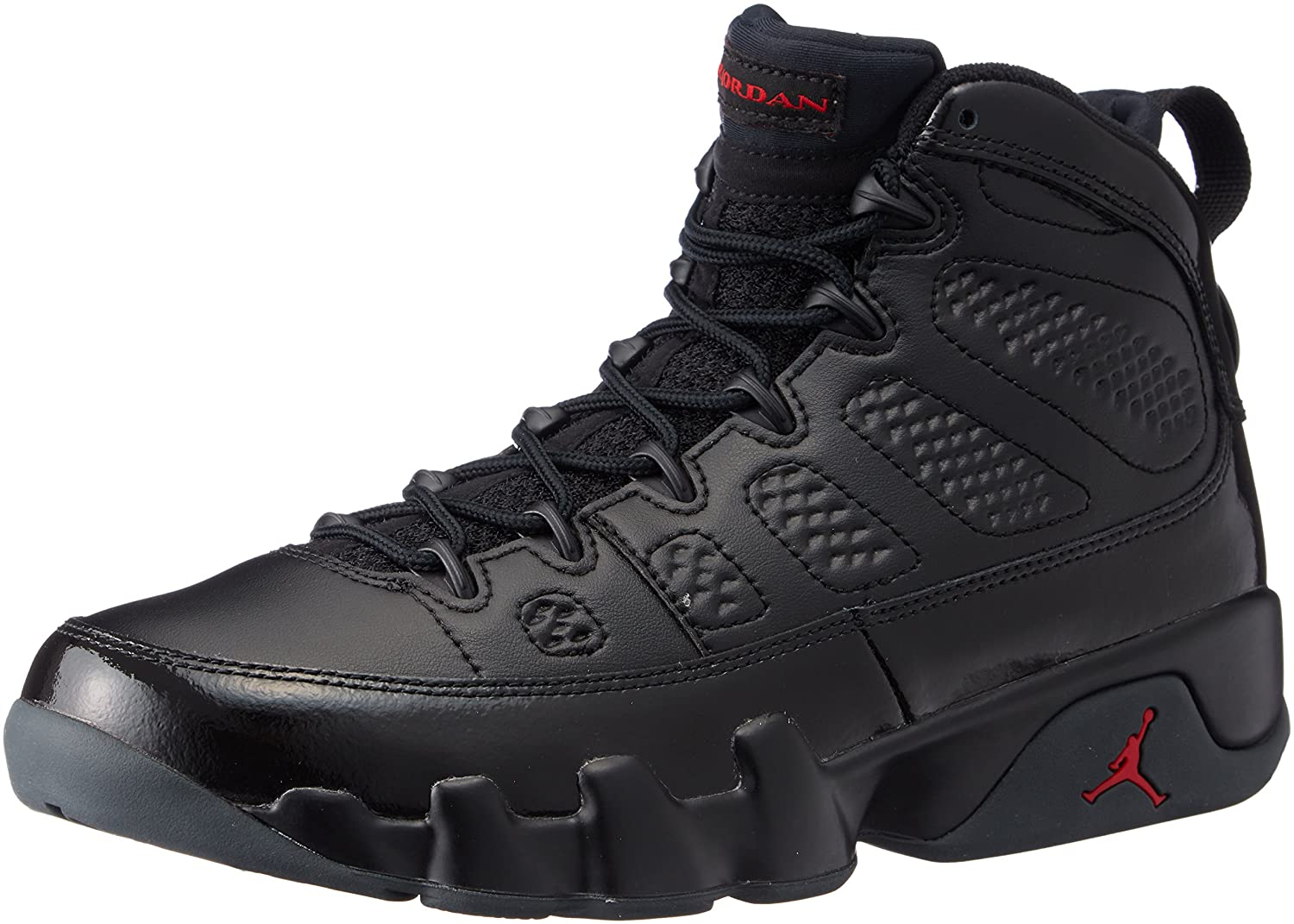 separation shoes c63c2 a4741 Amazon.com   Jordan Air 9 Retro Men s Basketball Shoes Black University Red  302370-014   Fashion Sneakers